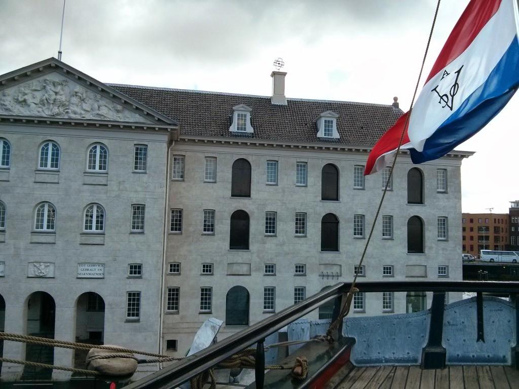Achterkant Scheepvaartmuseum Amsterdam