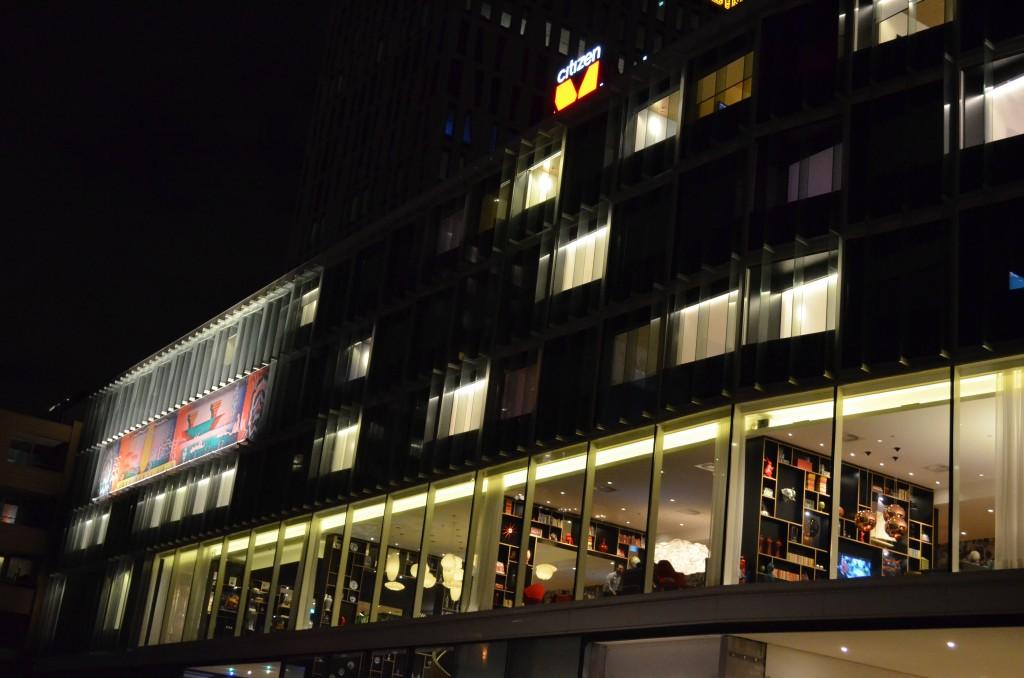 Buitenkant woonkamers bij CitizenM Rotterdam