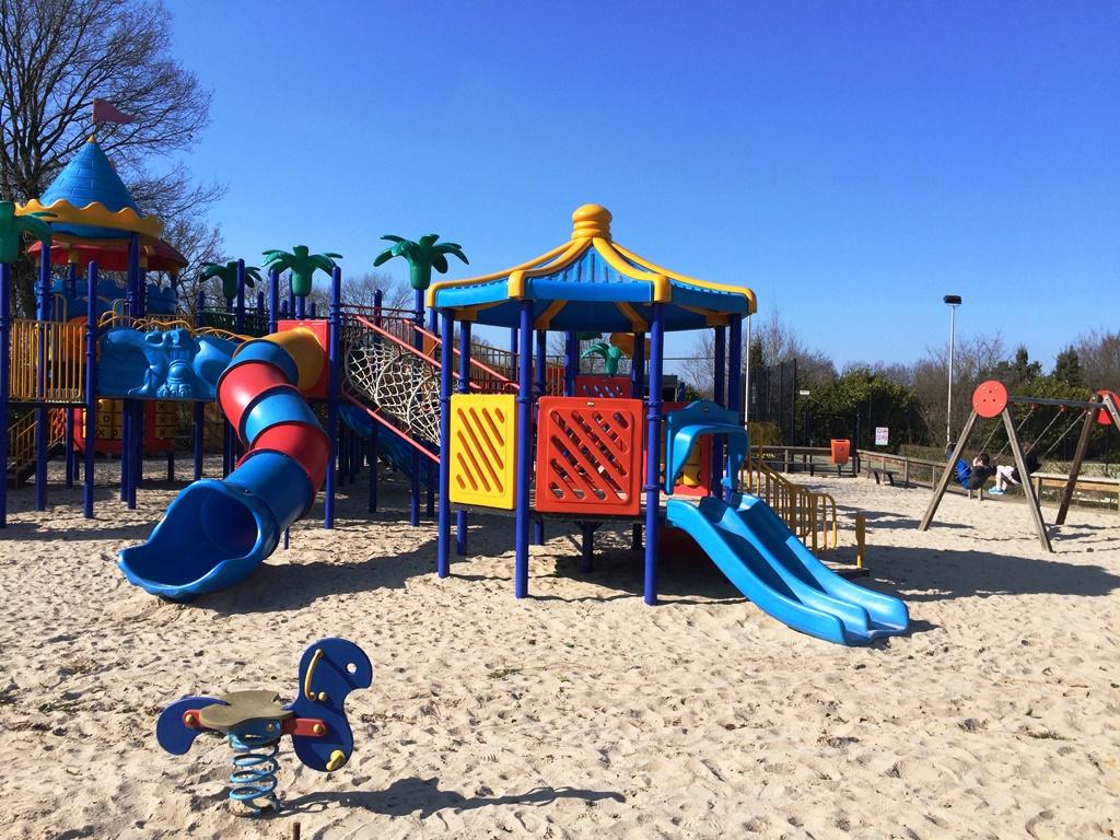 Buitenspeeltuin van Resort Arcen in Noord Limburg