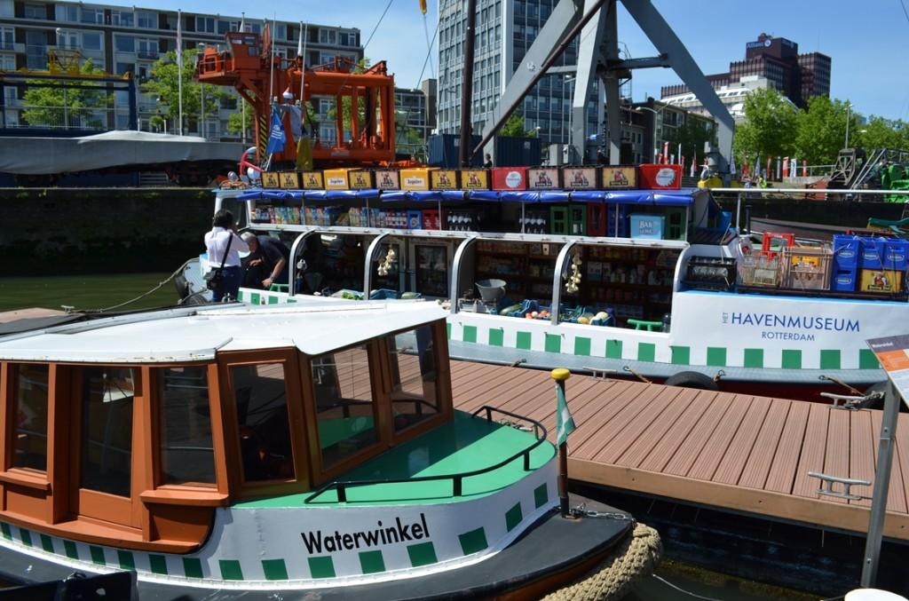 Rotterdam havenmuseum winkelboot