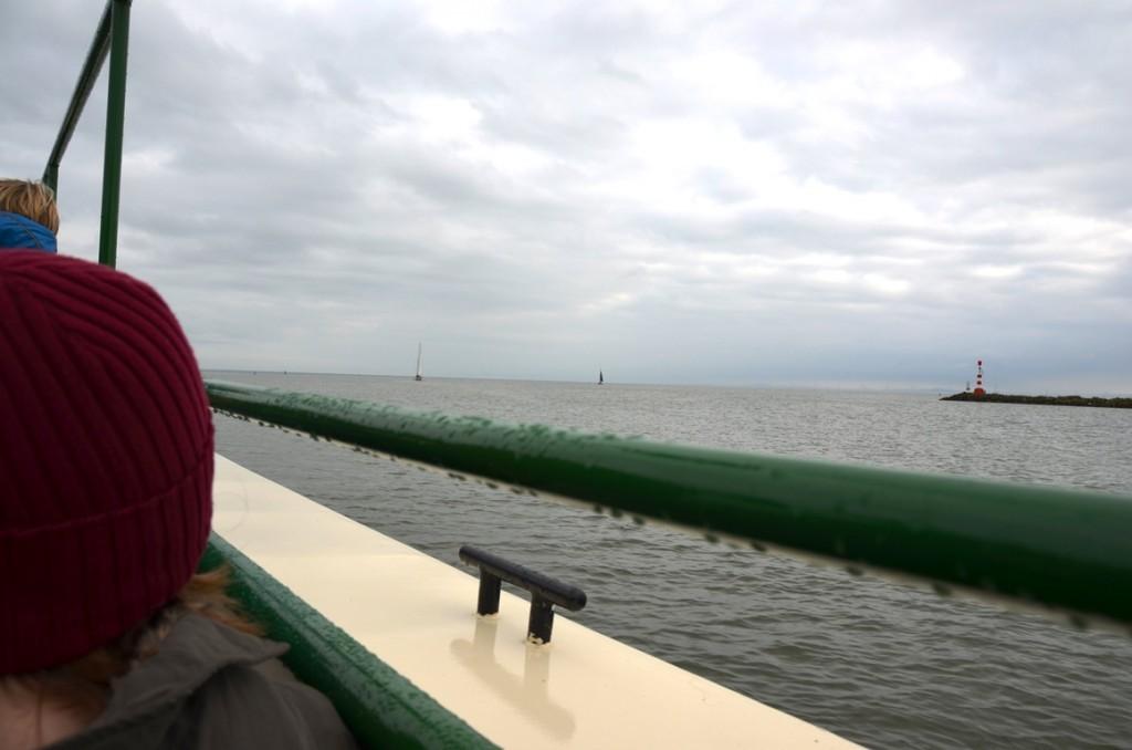 In de boot naar het Zuiderzeemuseum Enkhuizen