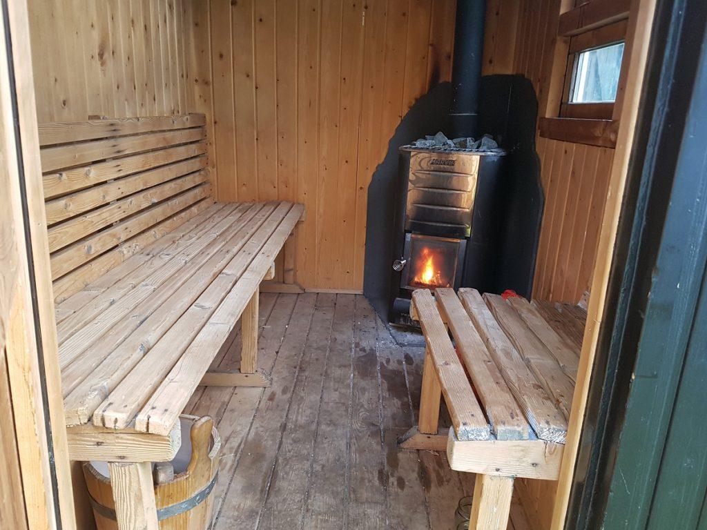 mobiele sauna op de klashorst
