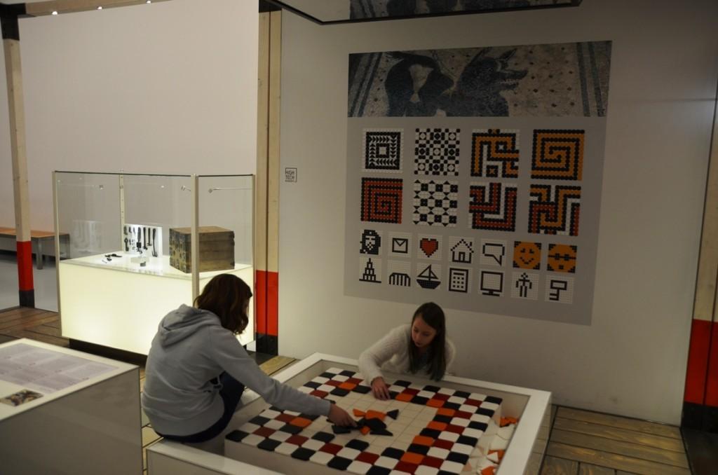 Mozaiek in Museum Het Valkhof
