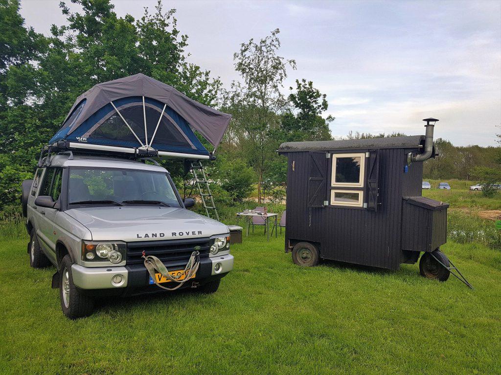 mobiele sauna op camping de klashorst